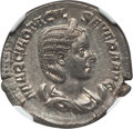 Ancients:Roman Imperial, Ancients: Otacilia Severa (Augusta, AD 244-249). AR antoninianus (5.12 gm). NGC MS ★ 5/5 - 5/5....