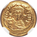 Ancients:Byzantine, Ancients: Constans II Pogonatus (AD 641-668). AV solidus (4.49 gm).NGC Choice MS 5/5 - 5/5....
