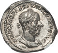 Ancients:Roman Imperial, Ancients: Macrinus (AD 217-218). AR denarius (3.25 gm). NGC ChoiceMS 5/5 - 5/5, Fine Style....