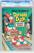 Golden Age (1938-1955):Cartoon Character, Four Color #275 Donald Duck (Dell, 1950) CGC FN/VF 7.0 Off-whitepages....