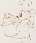 Animation Art:Production Drawing, Mickey's Trailer Mickey Mouse Animation Drawing (Walt Disney, 1938).. ...