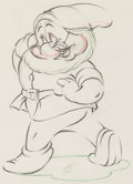 Animation Art:Production Drawing, Snow White and the Seven Dwarfs Doc Model Drawing (WaltDisney, 1937)....