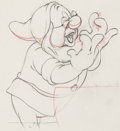Animation Art:Production Drawing, Snow White and the Seven Dwarfs Doc Animation Drawing (WaltDisney, 1937).. ...