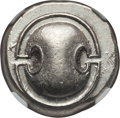 Ancients:Greek, Ancients: BOEOTIA. Thebes. Ca. 395-338 BC. AR stater (12.26 gm).NGC AU 4/5 - 4/5....