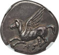 Ancients:Greek, Ancients: ACARNANIA. Anactorium. Ca. 350-300 BC. AR stater (8.49gm). NGC XF ★ 5/5 - 5/5....