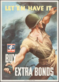 "Movie Posters:War, World War II Propaganda (U.S. Government Printing Office, 1943).4th War Loan Poster (20"" X 28"") ""Let 'Em Have It."" War.. ..."