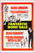 "Movie Posters:James Bond, Thunderball/From Russia with Love Combo (United Artists, R-1968). One Sheet (27"" X 41"") & Pressbook (11"" X 17""). James Bond.... (Total: 2 Items)"