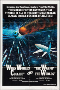 "When Worlds Collide/The War of the Worlds Combo & Other Lot (Paramount, R-1977). One Sheets (2) (27"" X 41&q..."
