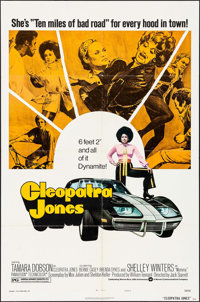 "Cleopatra Jones (Warner Brothers, 1973). One Sheet (27"" X 41"") Style B. Blaxploitation"