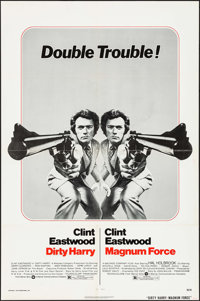 "Dirty Harry/Magnum Force Combo (Warner Brothers, R-1975). One Sheet (27"" X 41""). Crime"