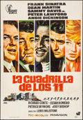 "Movie Posters:Crime, Ocean's 11 (Hispamex Films, R-1970s). Spanish One Sheet (27.5"" X39.5""). Crime.. ..."