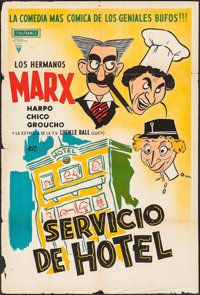 """Room Service (RKO, R-1950s). Argentinean Poster (29"""" X 43""""). Comedy"""