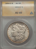 Morgan Dollars: , 1894-O $1 AU55 PCGS. PCGS Population: (840/2088). NGC Census: (679/1930). Mintage 1,723,000. ...