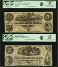 Illinois - Lot of 2 1850s Contemporary Counterfeit Banknotes