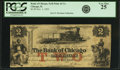 Chicago, IL - Bank of Chicago (of Seth Paine) $2 Deposit Note Nov. 1, 1852. PCGS Very Fine 25