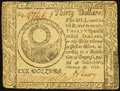 Colonial Notes:Continental Congress Issues, Continental Currency February 26, 1777 $30 Very Fine.. ...