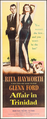 "Affair in Trinidad (Columbia, 1952). Insert (14"" X 36""). Film Noir"