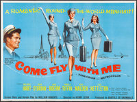 "Come Fly with Me (MGM, 1963). British Quad (30"" X 40""). Romance"