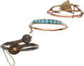 Estate Jewelry:Bracelets, Victorian Diamond, Turquoise, Gold Bracelets. . ... (Total: 3Items)