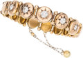 Estate Jewelry:Bracelets, Victorian Diamond, Gold Bracelet. . ...