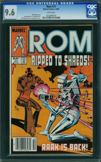 Rom #71 (Marvel, 1985) CGC NM+ 9.6 White pages