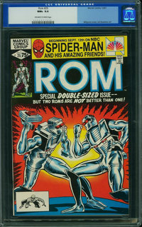 Rom #25 (Marvel, 1981) CGC NM+ 9.6 Off-white to white pages