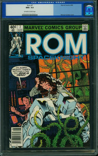 Rom #7 (Marvel, 1980) CGC NM+ 9.6 Off-white to white pages