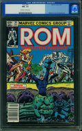 Modern Age (1980-Present):Science Fiction, Rom #28 (Marvel, 1982) CGC NM+ 9.6 Off-white to white pages.
