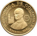 Colombia, Colombia: Republic Pope Paul VI gold 500 Pesos 1968 UNC, ...
