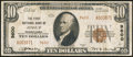 National Bank Notes:Pennsylvania, Jessup, PA - $10 1929 Ty. 2 The First NB Ch. # 9600. ...