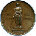 """Colombia, Colombia: Republic bronze """"Abolition of Slavery"""" Medal 1846 MS62 Brown NGC,..."""
