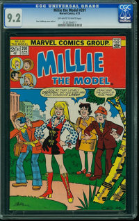 Millie the Model #201 (Atlas/Marvel, 1973) CGC NM- 9.2 Off-white to white pages