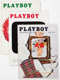 Magazines:Miscellaneous, Playboy Near Complete 1956 Group of 11 (HMH Publishing, 1956)....(Total: 11 Comic Books)