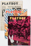 Magazines:Miscellaneous, Playboy Group of 6 (HMH Publishing, 1954-55).... (Total: 6 Items)