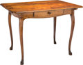 Furniture , A French Provincial Louis XV-Style Carved Walnut Table. 29 h x 38-1/4 w x 27-5/8 d inches (73.7 x 97.2 x 70.2 cm). ...