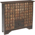 Asian:Chinese, A Chinese Wooden Apothecary or Medicine Cabinet, early Republicperiod. 29-1/2 h x 32-7/8 w x 7-3/4 d inches (74.9 x 83.5 x ...