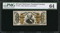 Fractional Currency:Third Issue, Fr. 1331 50¢ Third Issue Spinner PMG Choice Uncirculated 64.. ...