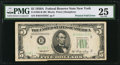 Error Notes:Foldovers, Fr. 1962-B $5 1950A Federal Reserve Note. PMG Very Fine 25.. ...