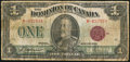 Canadian Currency: , DC-25e $1 1923.. ...