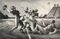 Fine Art - Work on Paper:Print, Thomas Hart Benton (American, 1889-1975). Forward Pass,1972. Lithograph. 12-7/8 x 19-3/4 inches (32.7 x 50.2 cm) (image...
