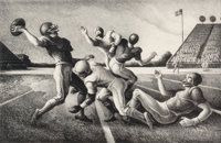 Thomas Hart Benton (American, 1889-1975) Forward Pass, 1972 Lithograph 12-7/8 x 19-3/4 inches (32