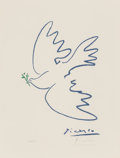 Fine Art - Work on Paper:Print, Pablo Picasso (Spanish, 1881-1973). Dove of Peace, circa1961. Offset lithograph in colors. 18-1/2 x 14 inches (47.0 x 3...