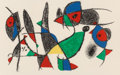 Fine Art - Work on Paper:Print, Joan Miró (Spanish, 1893-1983). Untitled, from LithographeII, 1974. Lithograph in colors. 17-1/2 x 24-1/8 inches (44.5...