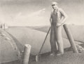 Prints, Grant Wood (American, 1891-1942). In the Spring, 1939. Lithograph. 9 x 12 inches (22.9 x 30.5 cm) (image). Ed. 250. Sign...