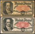 Fractional Currency:Fifth Issue, Fr. 1381 50¢ Fifth Issue Two Issues.. ... (Total: 2 notes)