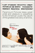 "Movie Posters:Drama, Romeo and Juliet (Paramount, R-1973/R-1976). One Sheets (2) Identical (27"" X 41""), Mini Lobby Cards (11), & Photos (11) (8""... (Total: 24 Items)"