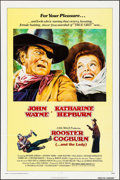 "Movie Posters:Western, Rooster Cogburn (Universal, 1975). One Sheet (27"" X 41"") & MiniLobby Card Set of 8 (8"" X 10""). Western.. ... (Total: 9 Items)"