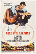 "Movie Posters:Academy Award Winners, Gone with the Wind (MGM, R-1961). One Sheet (27"" X 41""). Academy Award Winners.. ..."