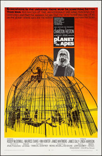 "Planet of the Apes (20th Century Fox, 1968). One Sheet (27"" X 41""). Science Fiction"