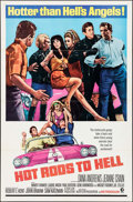 "Movie Posters:Exploitation, Hot Rods to Hell (MGM, 1967). One Sheet (27"" X 41""). Exploitation.. ..."
